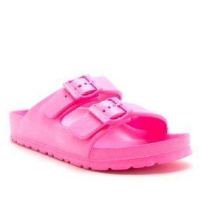 !!RESTOCKED!! Neon Pink Double Buckle Sandals